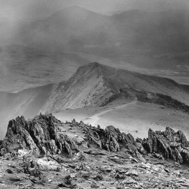 """""""from Snowdon, Wales"""" stock image"""