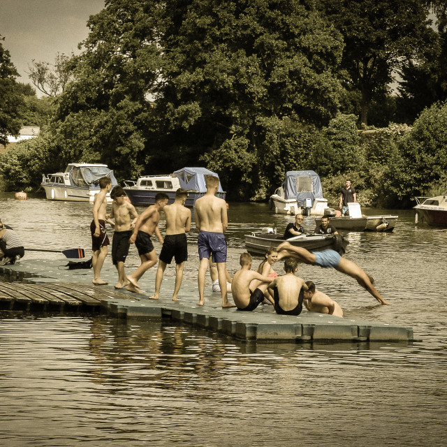 """Messing about on the river"" stock image"