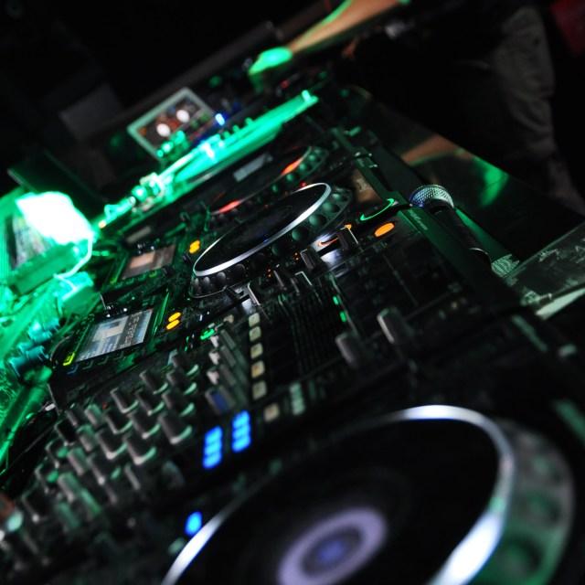 """""""DJ."""" stock image"""