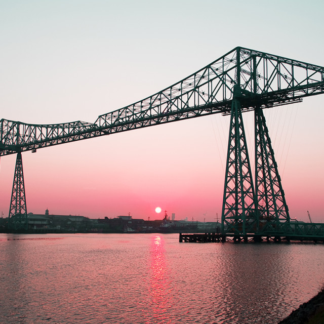 """Middlesbrough Transporter Bridge"" stock image"