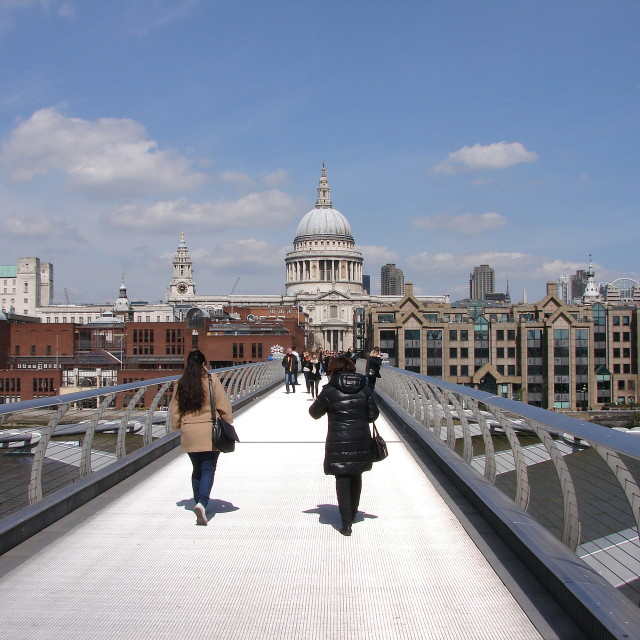 """Walking to St Paul's"" stock image"