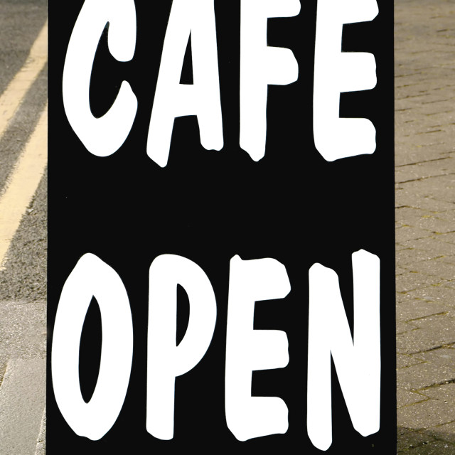 """cafe open"" stock image"