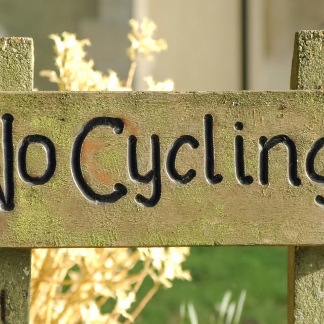 """no cycling"" stock image"