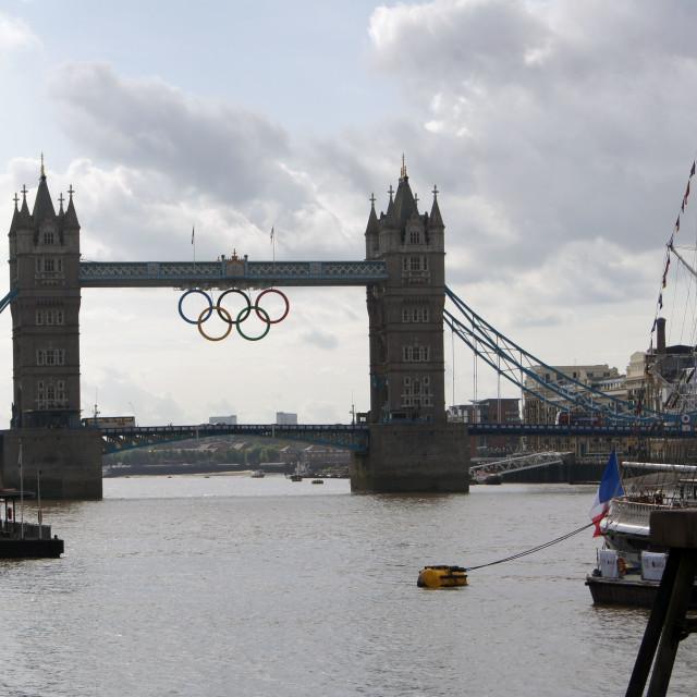 """Olympic Tower Bridge"" stock image"