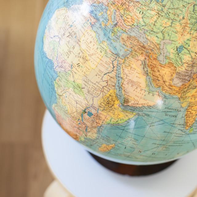 """Vintage globe"" stock image"