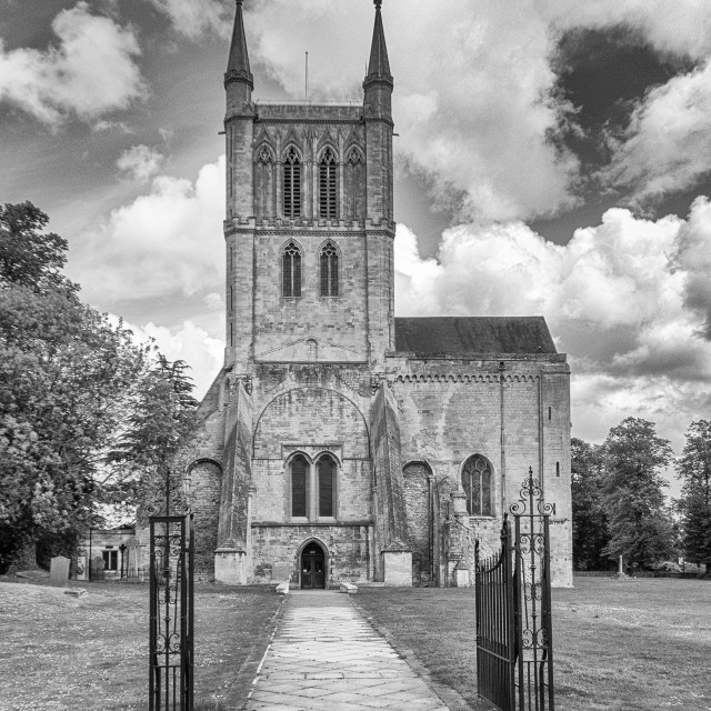 """Pershore Abbey"" stock image"