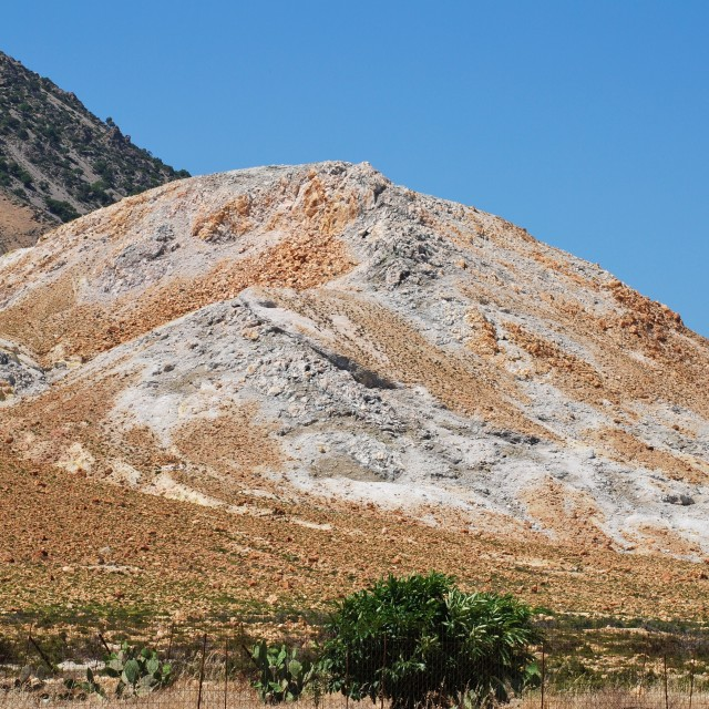 """""""Volcanic rock formations, Nisyros"""" stock image"""