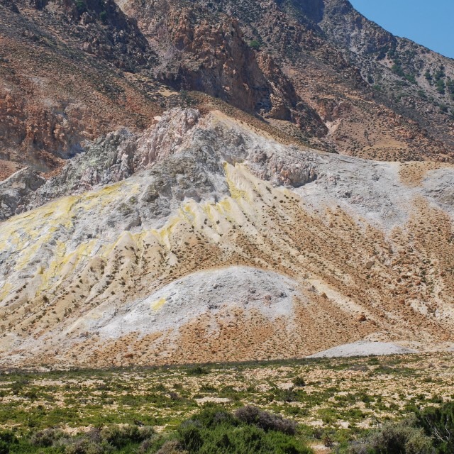 """Volcanic rocks, Nisyros island"" stock image"