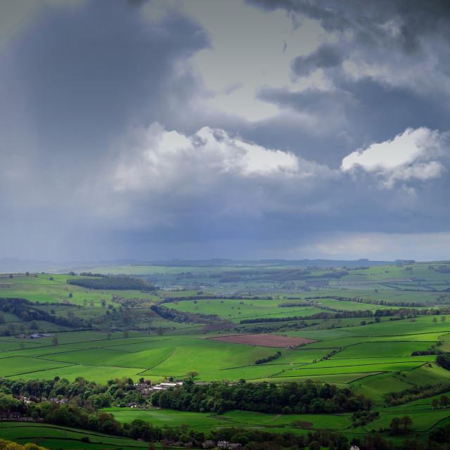 """Curbar Edge Derbyshire"" stock image"