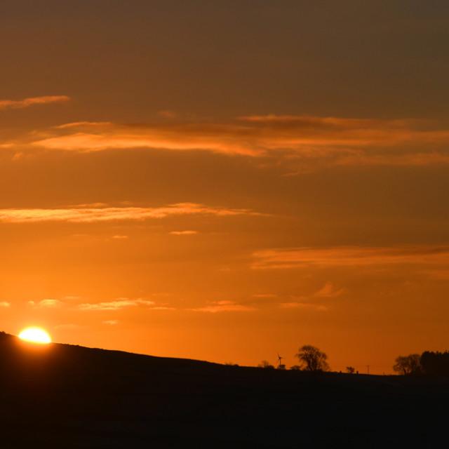 """Sunrise over North Yorkshire"" stock image"