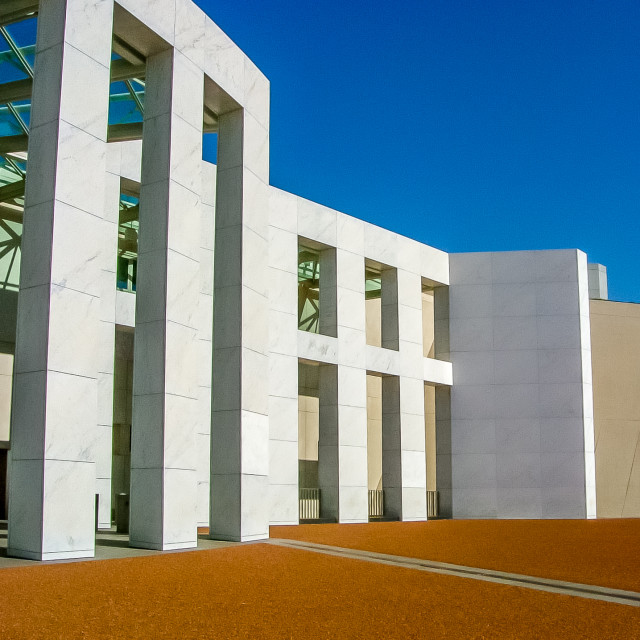 """Parliament House, Canberra"" stock image"