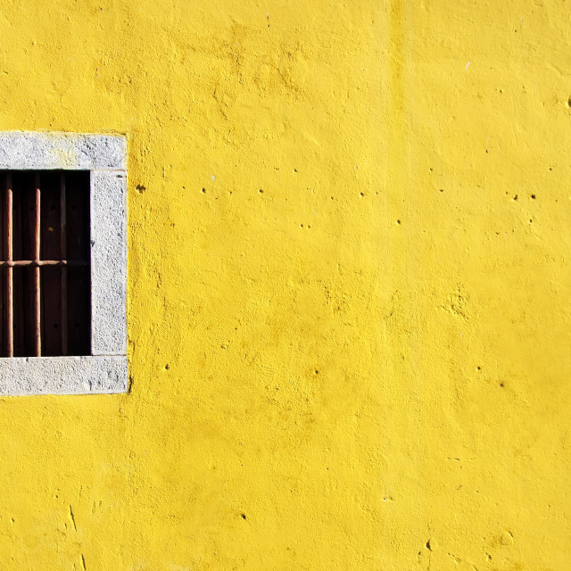 """window old in yellow wall"" stock image"