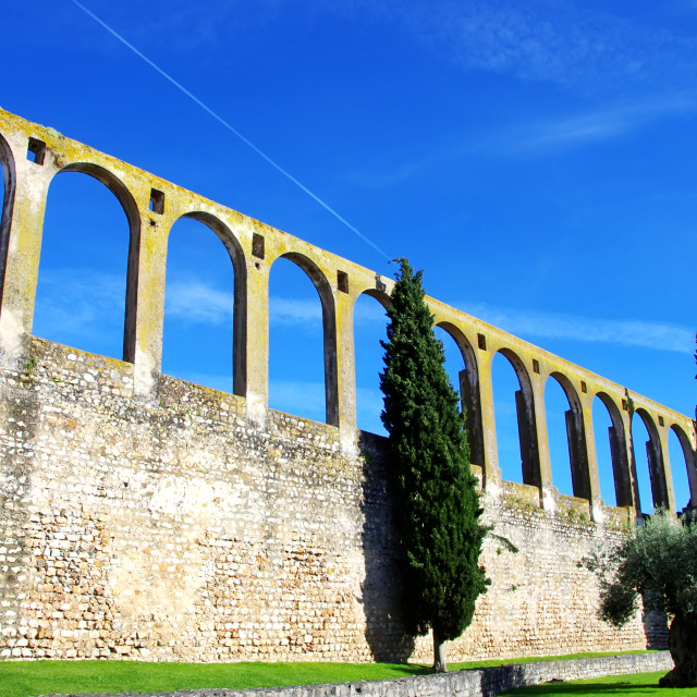 """aqueduct of Serpa, Alentejo, Portugal"" stock image"