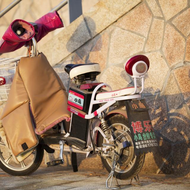 """Motorised Bike"" stock image"