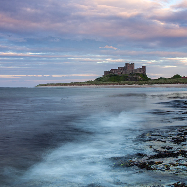 """Bamburgh Castle, Northumberland UK"" stock image"
