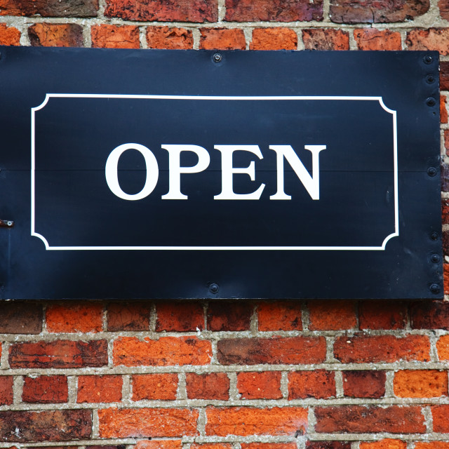 """Open Sign"" stock image"