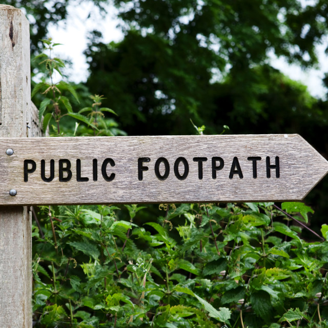 """Public Footpath Sign"" stock image"