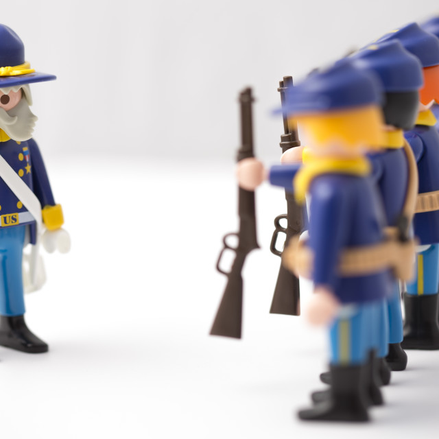 """""""Union General parades his troops"""" stock image"""