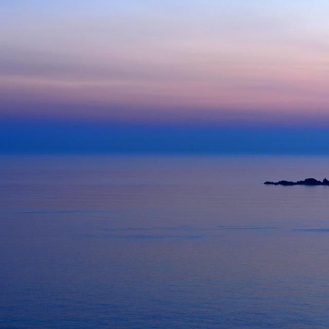 """""""Hanois Lighthouse at Dusk"""" stock image"""