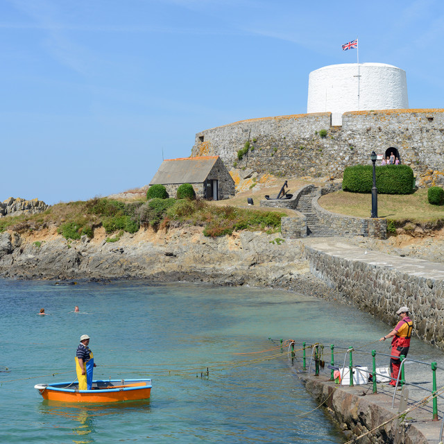 """Fort Grey, Guernsey"" stock image"