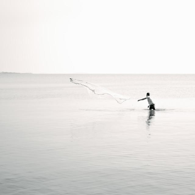 """The Fisherman"" stock image"