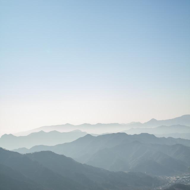 """""""Mountain Silhouettes"""" stock image"""