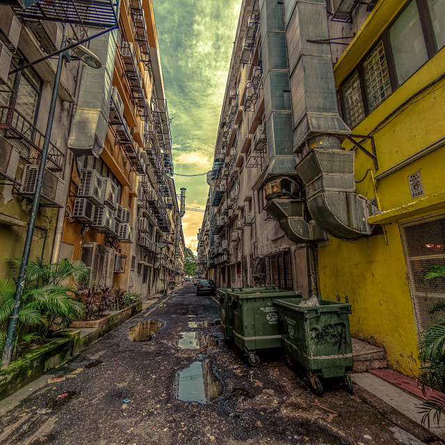 """Back Alley"" stock image"