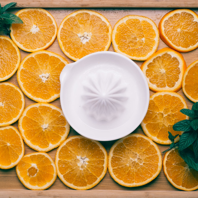 """Orange Slices"" stock image"