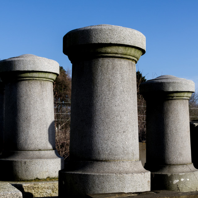 """Concrete Bollards"" stock image"