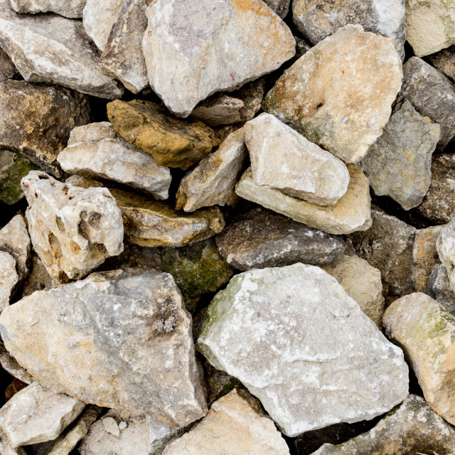 """Cotswold Stone Pile"" stock image"