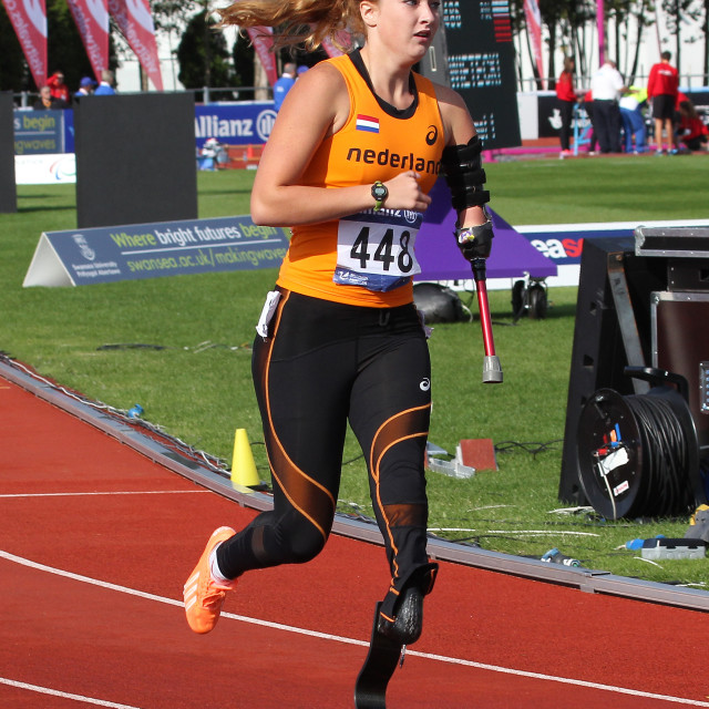 """""""Marlene van Gansewinkel Paralympic Sprinter"""" stock image"""