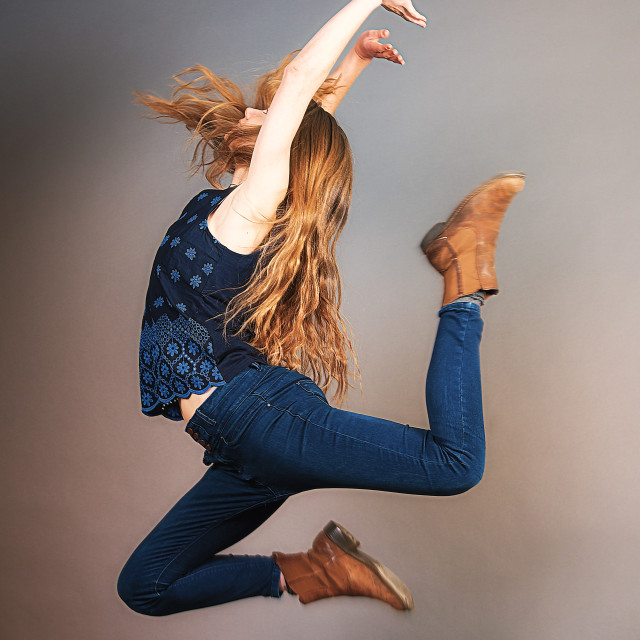 """Ballet Jump"" stock image"