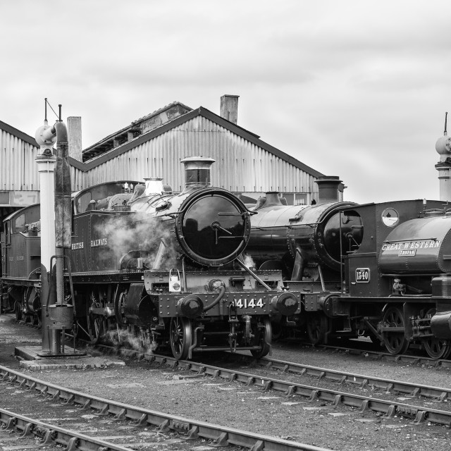 """Engines on shed"" stock image"