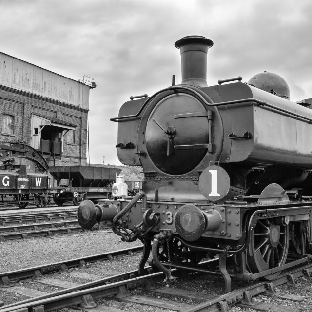 """GWR Pannier"" stock image"
