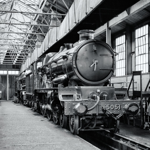 """The engine shed"" stock image"