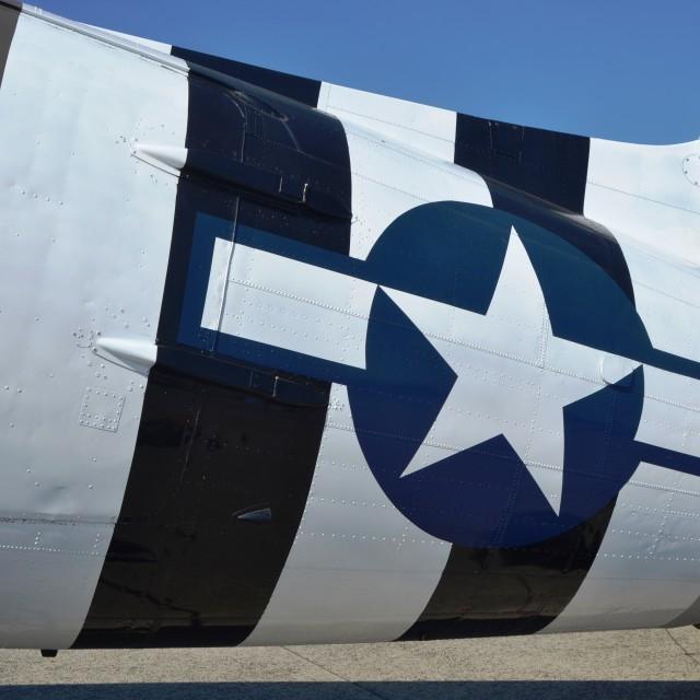 """D-Day stripes - C-47"" stock image"