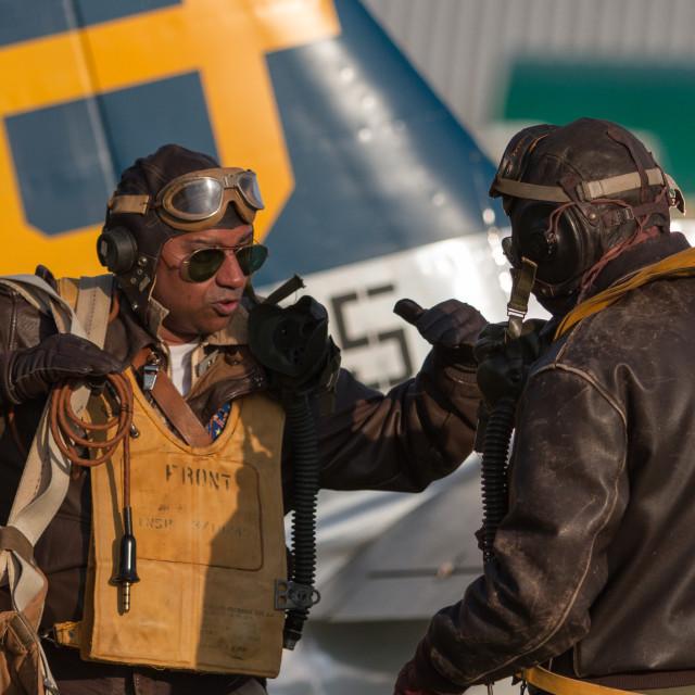 """""""Pilot debrief"""" stock image"""