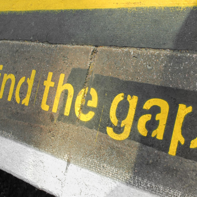 """mind the gap"" stock image"