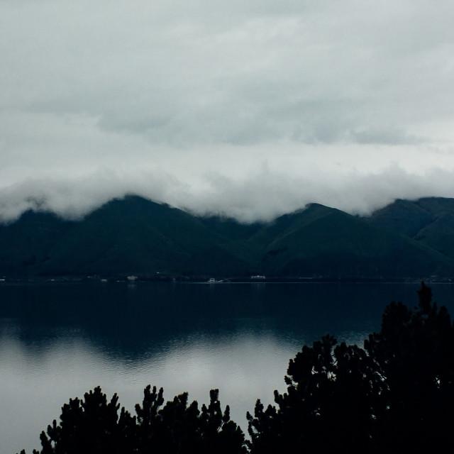 """""""Beautiful Scene at The Lake Sevan"""" stock image"""