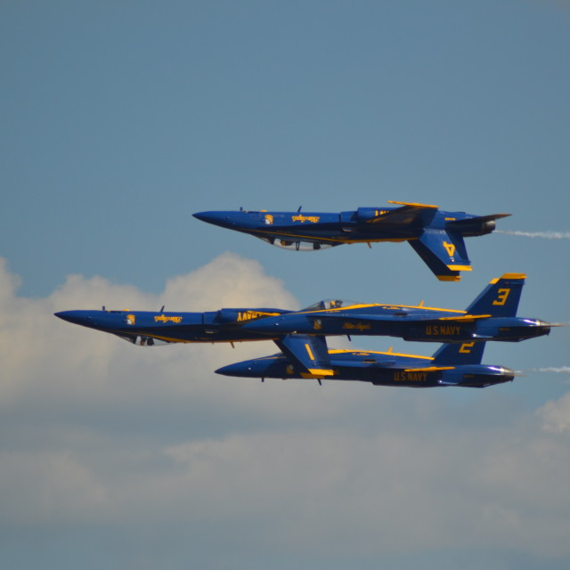 """US Navy Blue Angels #1"" stock image"