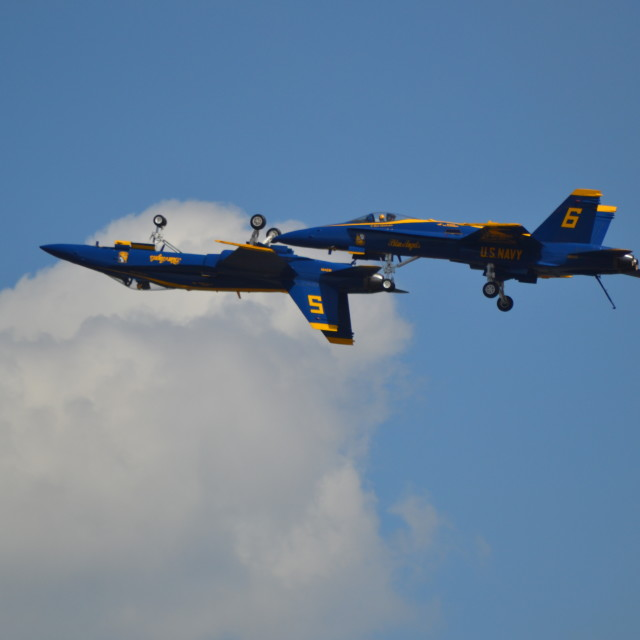 """USN Blue Angels #2"" stock image"