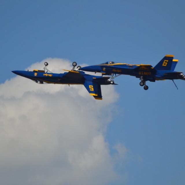 """""""USN Blue Angels #2"""" stock image"""