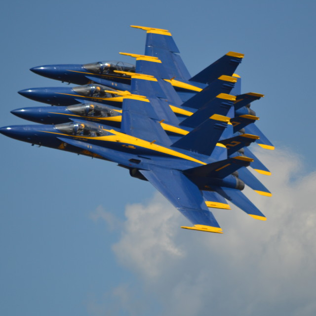 """USN Blue Angels -close!"" stock image"