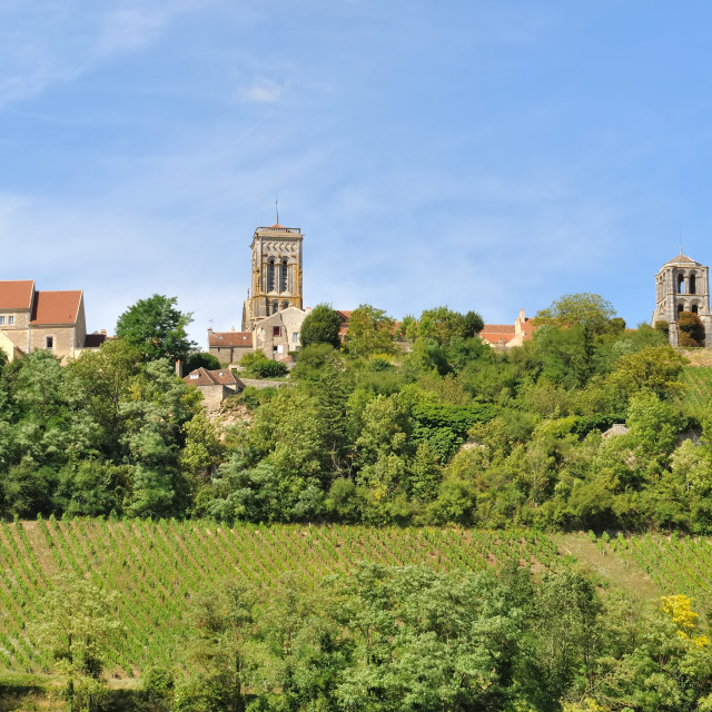 """Burgundy village"" stock image"
