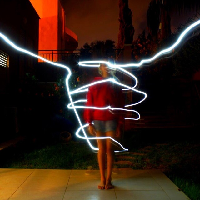 """Light painting"" stock image"