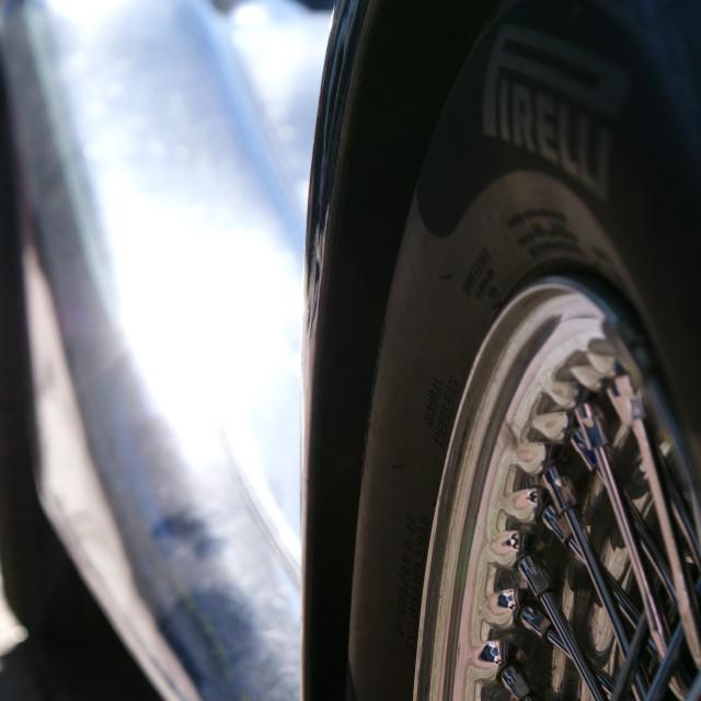 """""""A fat Pirelli"""" stock image"""