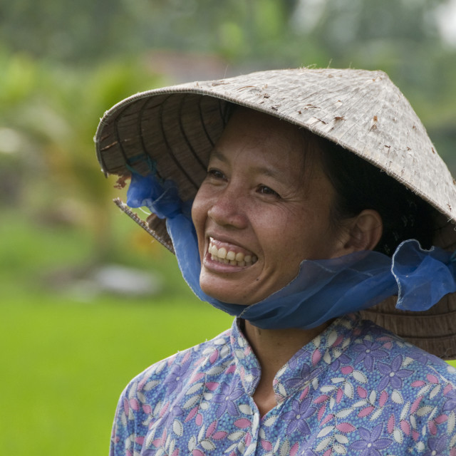 """Paddy Field Worker"" stock image"