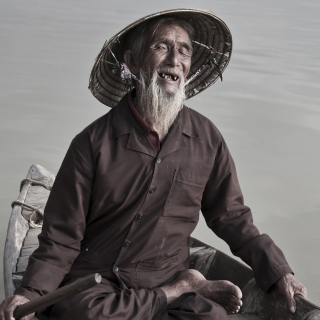 """Hoi An Fisherman"" stock image"