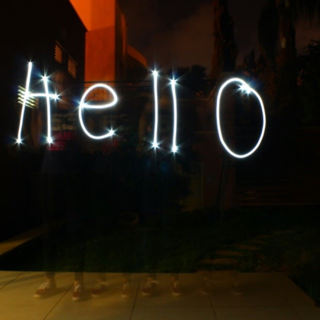 """Hello"" stock image"