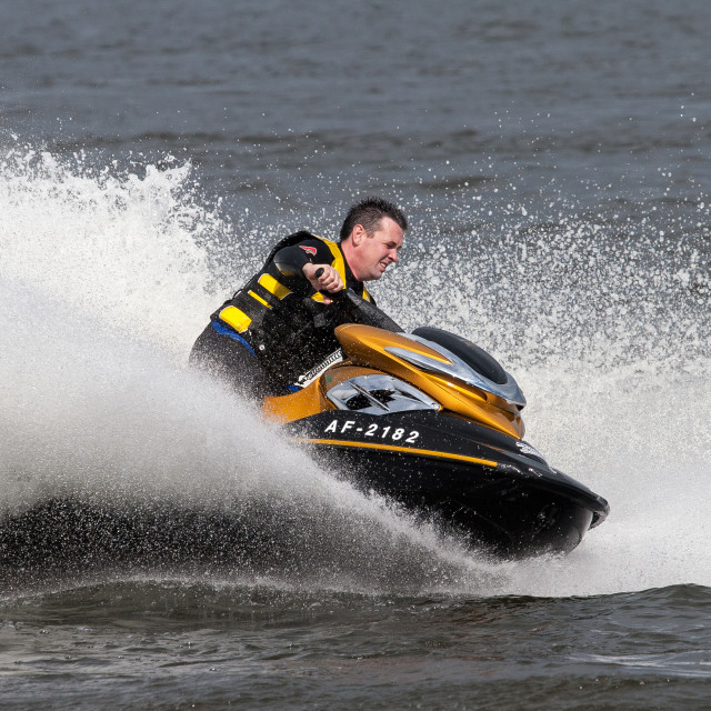 """Jet Skier on Lough Neagh 1"" stock image"